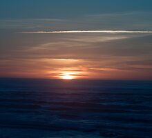 Sleeping Sun over the Pacific Ocean by cjfehr