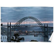 Yaquina Bay Bridge before Sunrise Poster