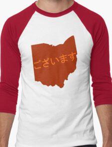 Ohayou (Ohio) Gozaimasu Men's Baseball ¾ T-Shirt