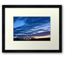 Sunrise Hues of Blues Framed Print