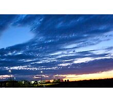 Sunrise Hues of Blues Photographic Print
