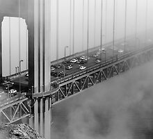 Foggy Golden Gate Bridge Traffic by Daisy Yeung