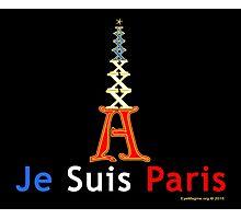 Je Suis Paris Emoticon Photographic Print
