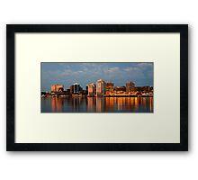 Halifax's first light Framed Print