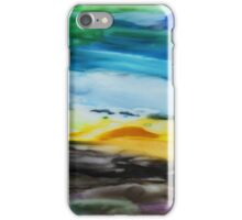 Peaceful Landscape Abstract Watercolor Painting iPhone Case/Skin