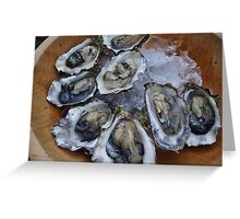 Oysters on the Half Shell Greeting Card