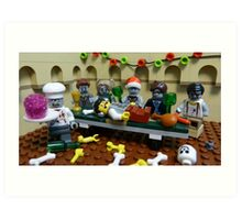 The Last Zombie Supper At Christmas Art Print