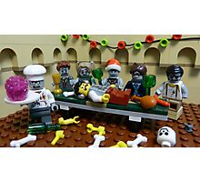 The Last Zombie Supper At Christmas Photographic Print
