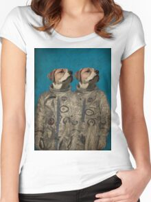 Journey into outer space Women's Fitted Scoop T-Shirt