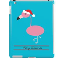 Merry Christmas Pink Flamingos with Santa Hat iPad Case/Skin