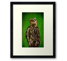 Up there is my home green Framed Print