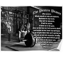 The Protein Prayer (Gym Humor) Poster