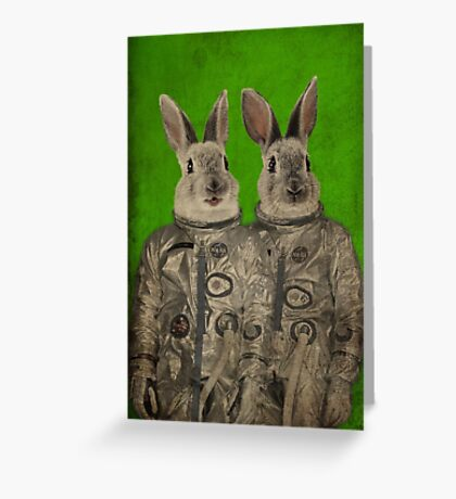We are ready green Greeting Card