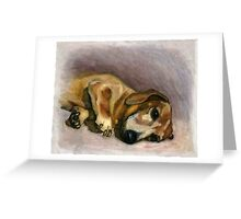 Laying in the sun rays Greeting Card