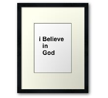 God Framed Print