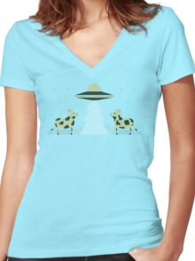 Merry Abduction Women's Fitted V-Neck T-Shirt
