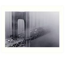 Foggy Golden Gate Bridge Art Print