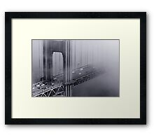 Foggy Golden Gate Bridge Framed Print