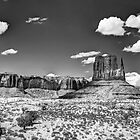 Monument Valley in Monochrome  by Saija  Lehtonen