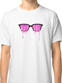 Pink Grunge Color Splatter Graffiti Backstreet Wall Background  Classic T-Shirt