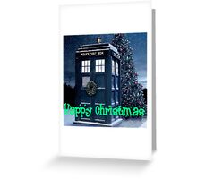Doctor who Christmas style TARDIS  Greeting Card