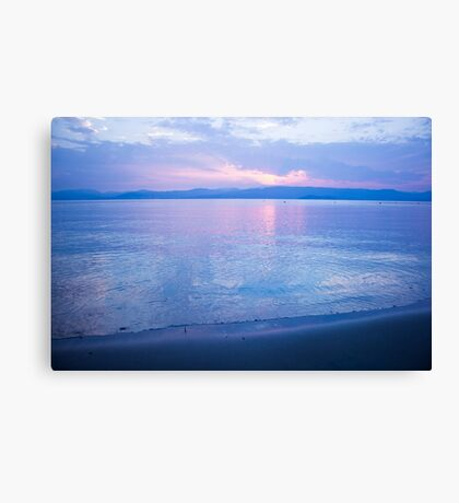 Morning sea-mirror Canvas Print