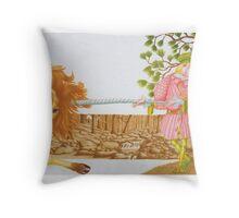 Little Tailor 3 - dble pge internal illust, (pen & ink, watercolour on paper) Throw Pillow