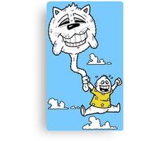 Cat Balloon Canvas Print