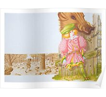 Little Tailor 6-  internal dble pge, (pen & ink, watercolour on paper) Poster