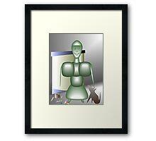Magic home robot Framed Print