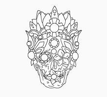 Royal Dead, Floral Detail Crown and Skull. T-Shirt