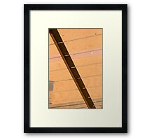 Lines In The Sand. Framed Print