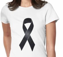 Black Ribbon iPhone / Samsung Galaxy Case Womens Fitted T-Shirt