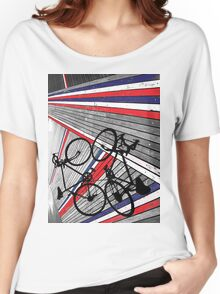 Red, White and Blue Bike Women's Relaxed Fit T-Shirt