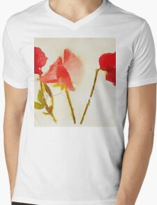 Sweet Pea Watercolour Mens V-Neck T-Shirt