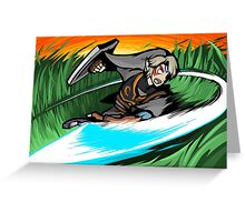Link | Sword Slash Greeting Card
