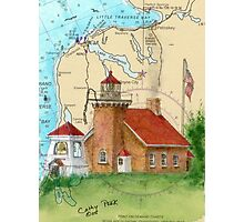 Little Traverse Lighthouse MI Chart Cathy Peek Photographic Print