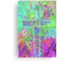 CELTIC CROSS    Vibrant colours with a soul Canvas Print