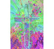 CELTIC CROSS    Vibrant colours with a soul Photographic Print