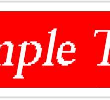 Supreme Sample Text Sticker