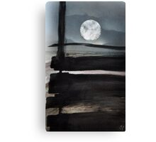 The moon beyond Canvas Print