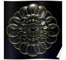 Cosmic Lens Flower Poster