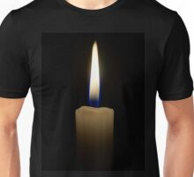 candle fire flame on black Unisex T-Shirt
