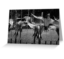Stainless Steel Flock Greeting Card