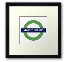 Adventureland Line Framed Print
