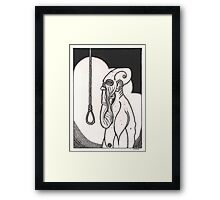 greasy soul death Framed Print