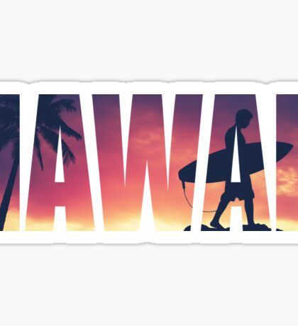 Vintage Filtered Hawaii Postcard Sticker