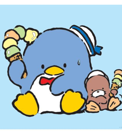 Penguin Sam with Ice Cream and Friend Sticker