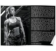 Women's Fitness and Workout Motivation Poster