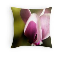 Lone Cyclamen Throw Pillow